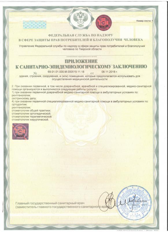 Сертификаты клиник